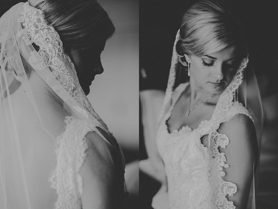 11 bridal portraits in black and white