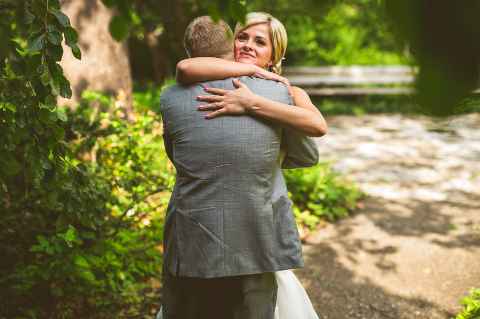 15 hug after first look - Lyuda + Tyler // Chicago Wedding Photographers