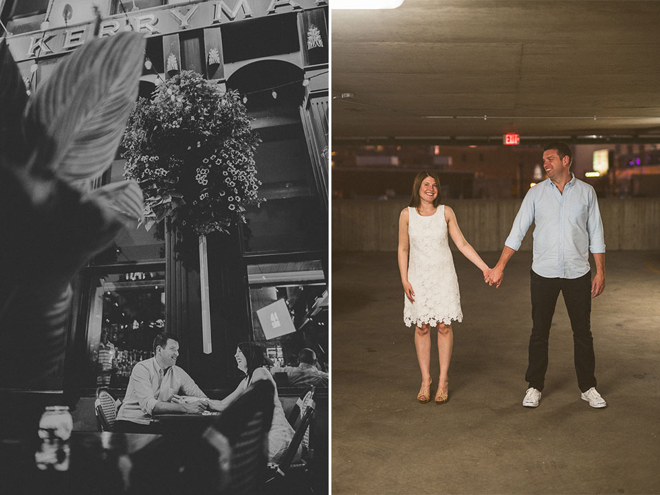 15 love at the kerryman pub - River North Engagement Session in Chicago // Heather + Mick