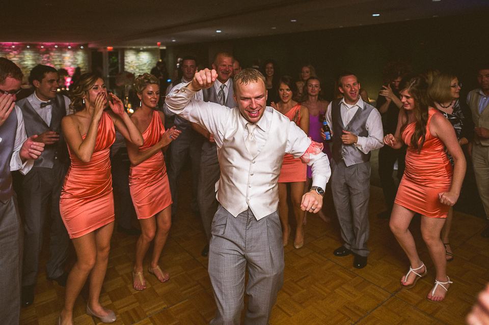 42 groom dancing at wedding - Lyuda + Tyler // Chicago Wedding Photographers