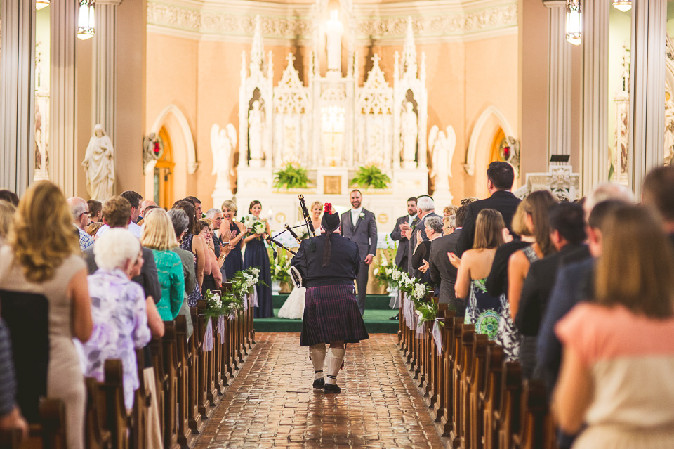 44 bag pipes at wedding