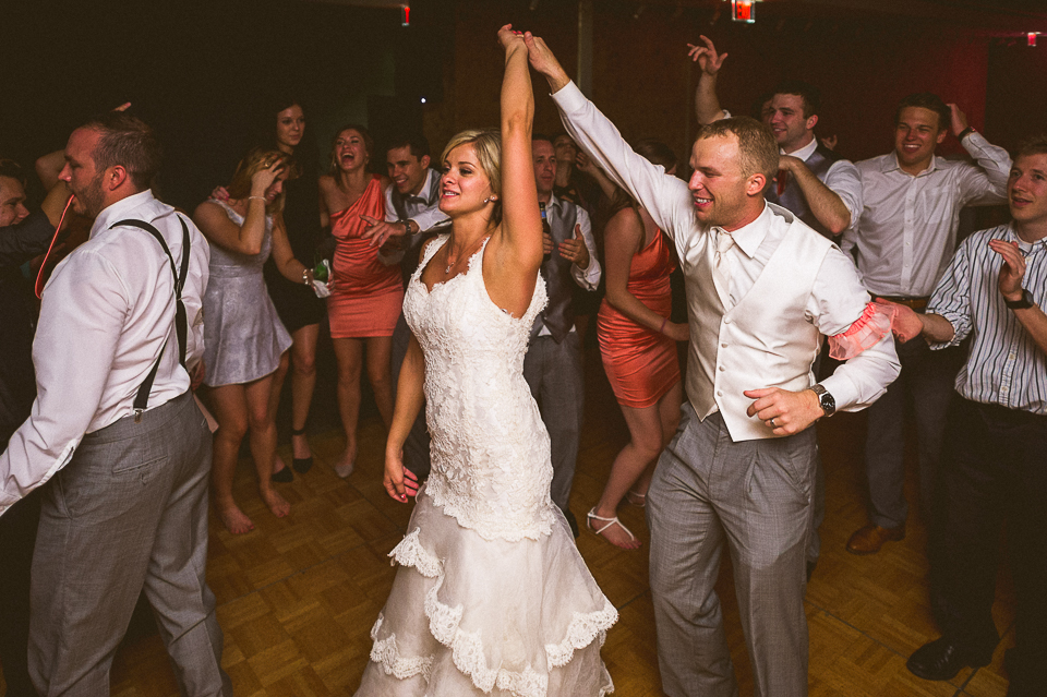 44 bride and groom dancing at their wedding - Lyuda + Tyler // Chicago Wedding Photographers