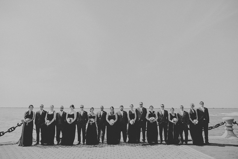 52 bridal party in black and white