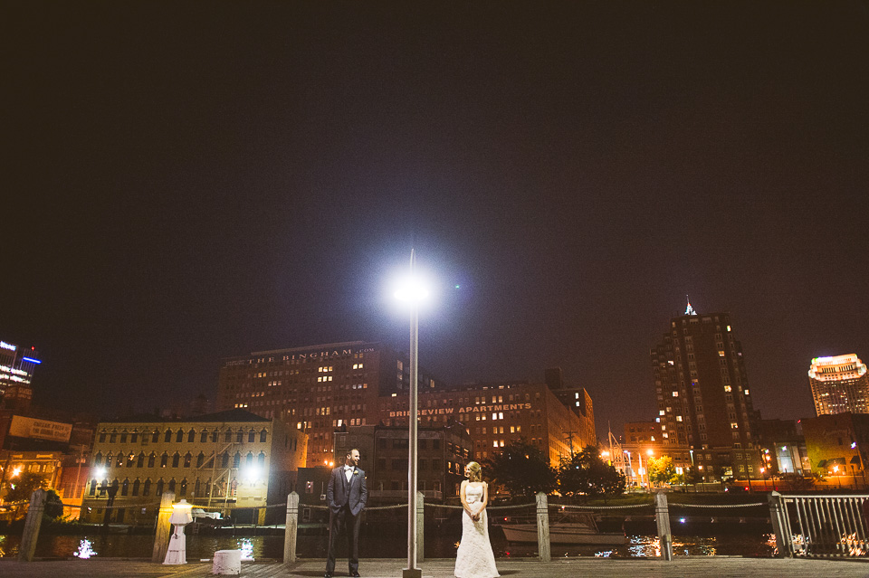 90 night time portraits at wedding