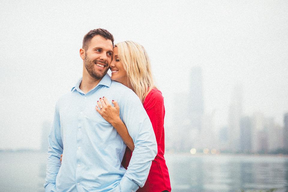 05 engagement photos on the lakefront in chicago - Downtown Chicago Engagement Photos // Amber + Jacob