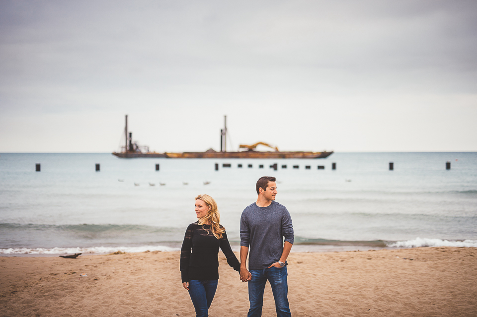 04 beach engagements in chicago