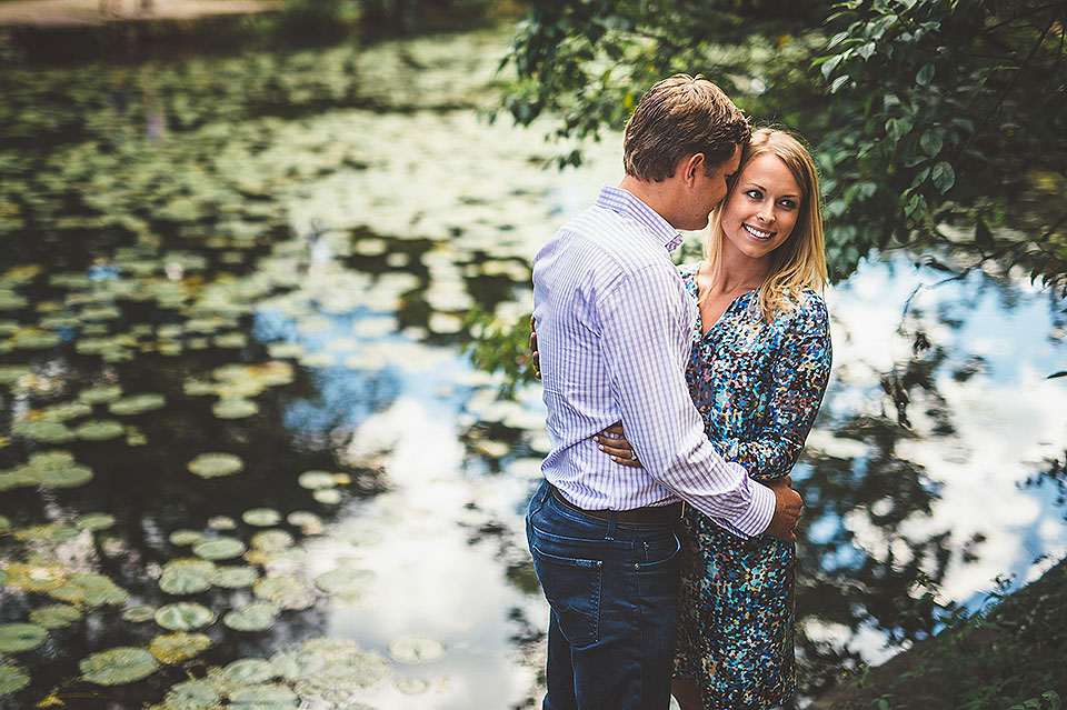 Stephanie + Zack // Lincoln Park Lily Pond Engagement Photos in Chicago