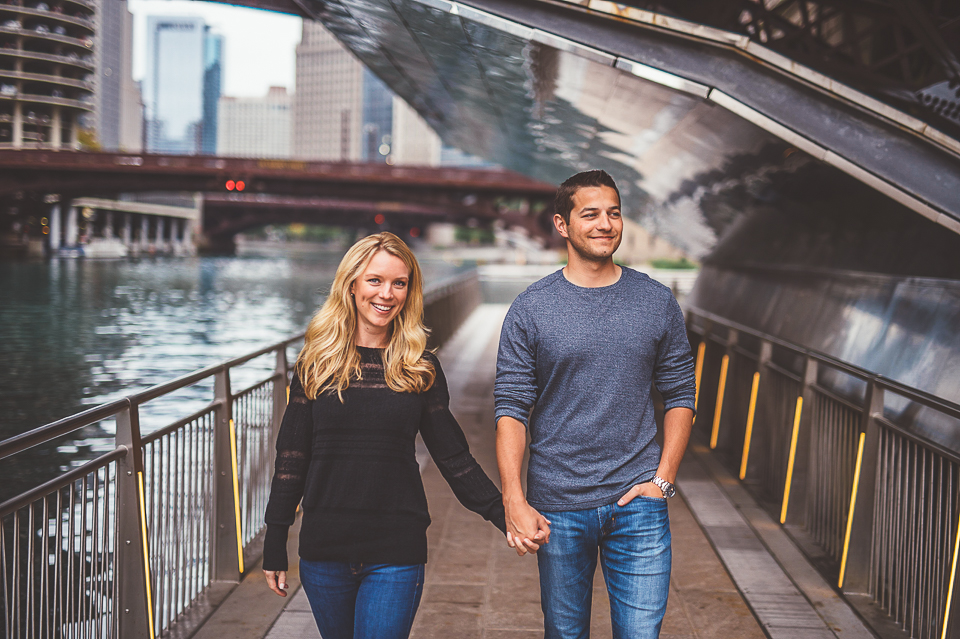Chrissy + Paul // Chicago Riverwalk Engagement Session
