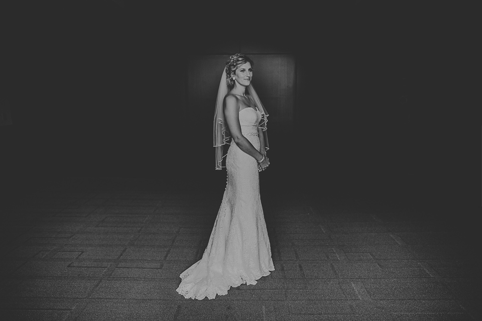 23 black and white bride portrait