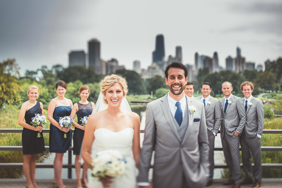 24 tilt shift bridal party photos