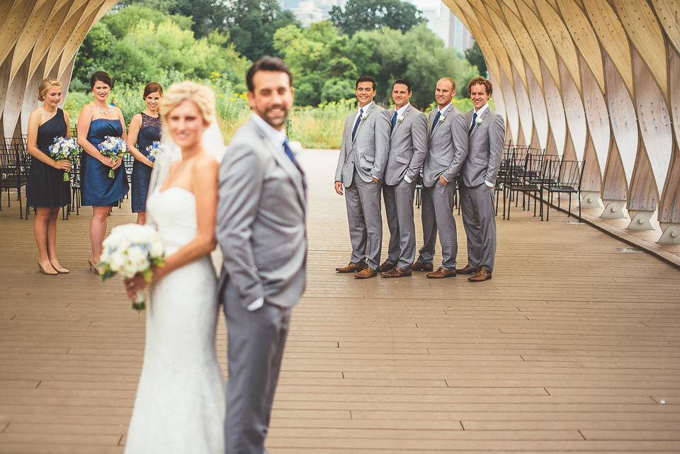 25 bridal party at honey comb in chicago