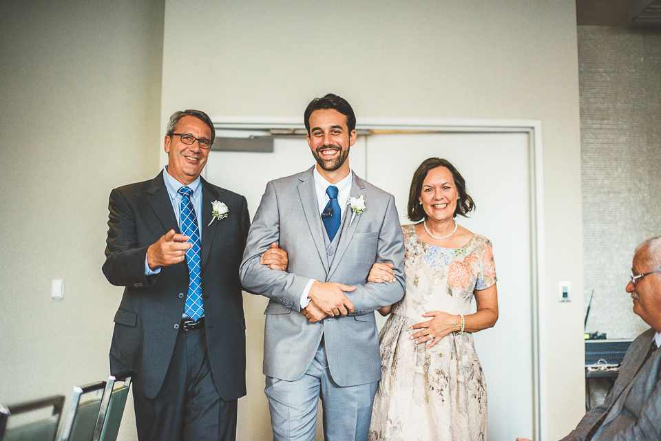 30 groom with parents
