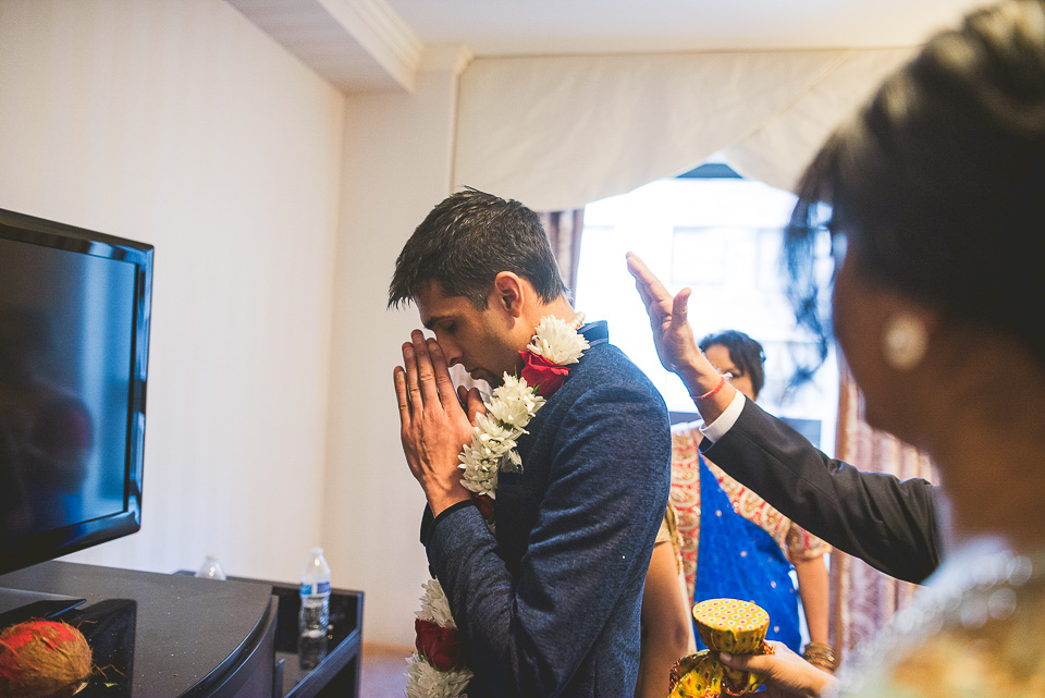 26 hindu prayer - Molly + Simul // Chicago Wedding Photos at Bridgeport Art Center