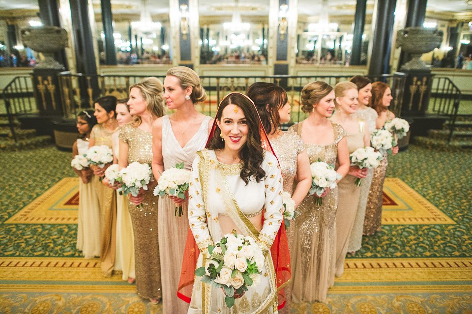 32 bridal party - Molly + Simul // Chicago Wedding Photos at Bridgeport Art Center