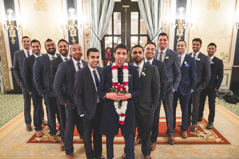 33 groomsmen - Molly + Simul // Chicago Wedding Photos at Bridgeport Art Center