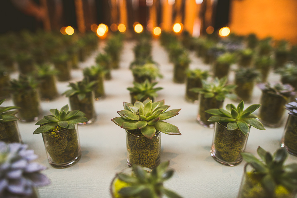 41 cool placecard plants - Molly + Simul // Chicago Wedding Photos at Bridgeport Art Center