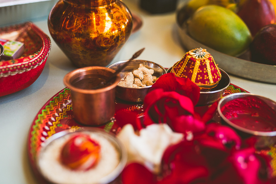43 hindu ceremony details - Molly + Simul // Chicago Wedding Photos at Bridgeport Art Center