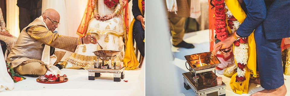 63 working with fire - Molly + Simul // Chicago Wedding Photos at Bridgeport Art Center