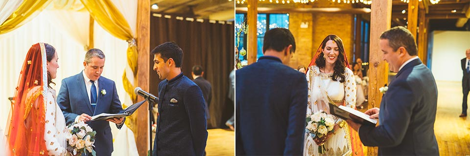 66 traditional ceremony - Molly + Simul // Chicago Wedding Photos at Bridgeport Art Center