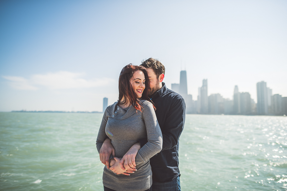 02 engagement photos on the lake in chicago