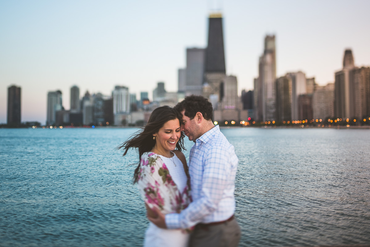 Tawni + Ryan // Chicago Sunset Engagement Session