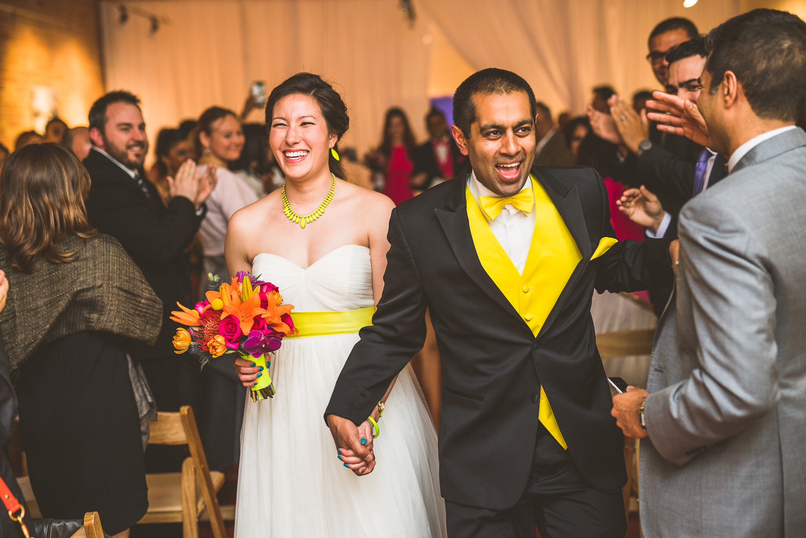 36 happy bride and groom at chicago wedding