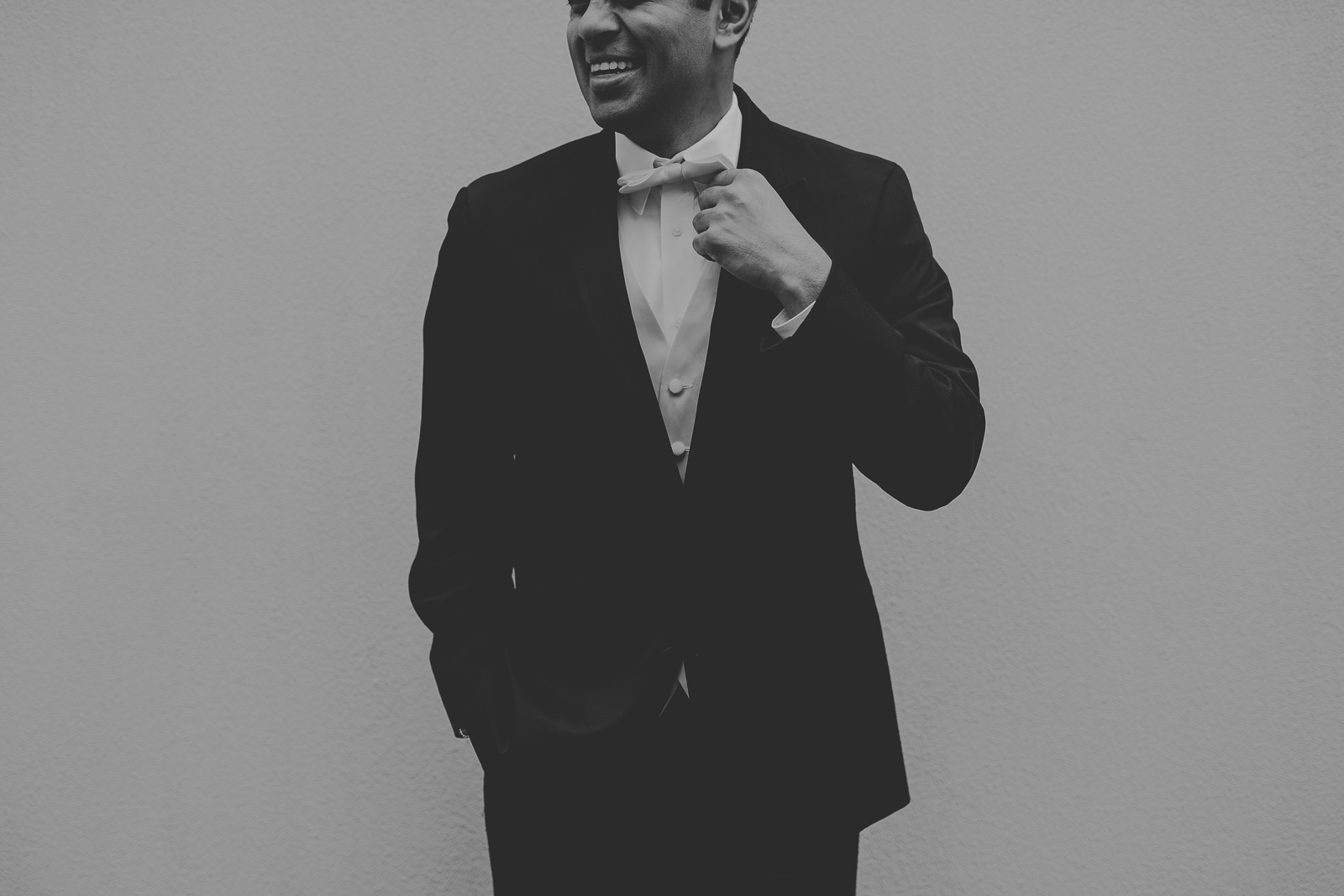 37-1 black and white groom portrait