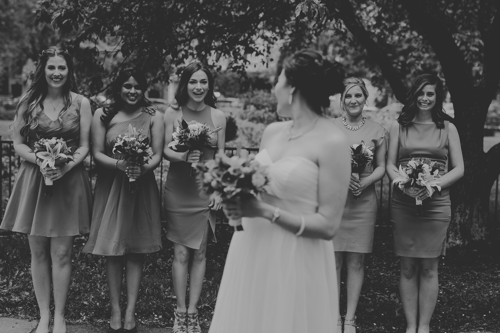 47 bridal party with bridesmaids