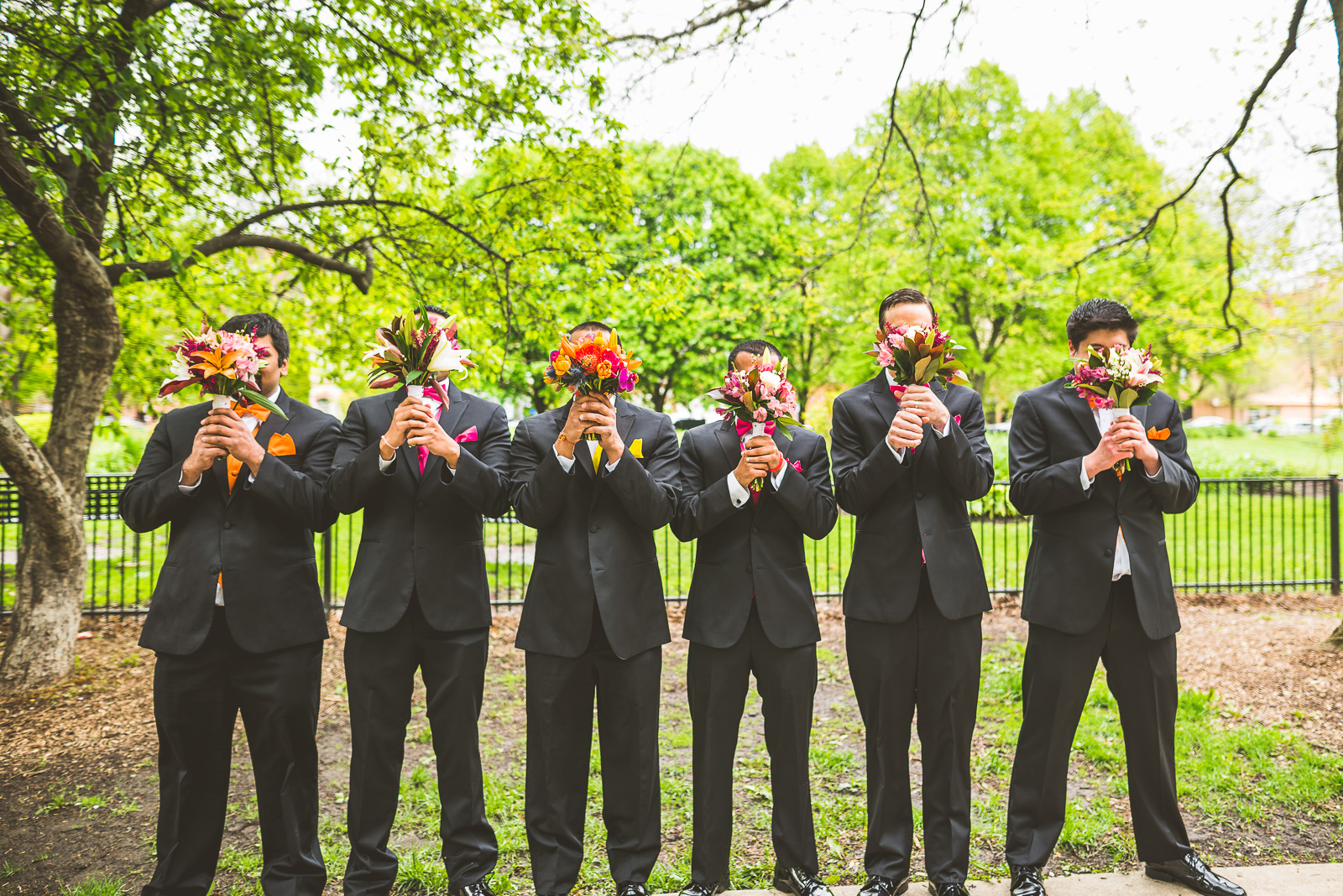 49 bridal party with flowers