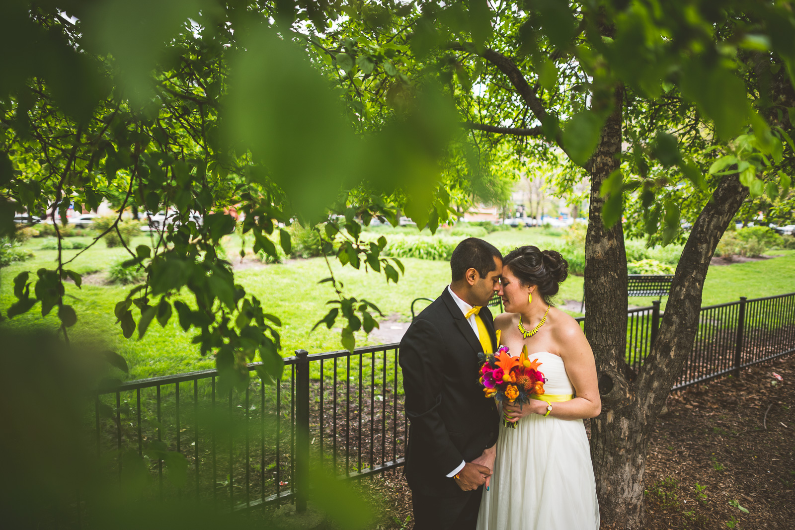 51 bride portraits with groom in park