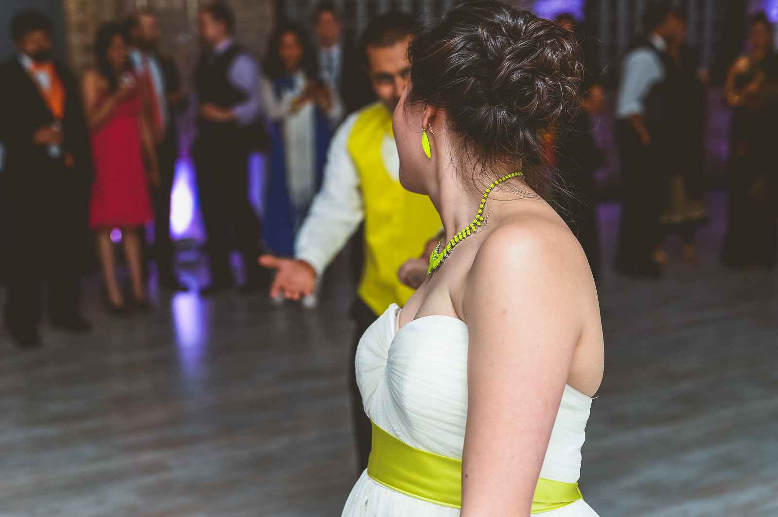 59 first dance at wedding - Jackie + Raj // Chicago Wedding Photography at Floating World Gallery