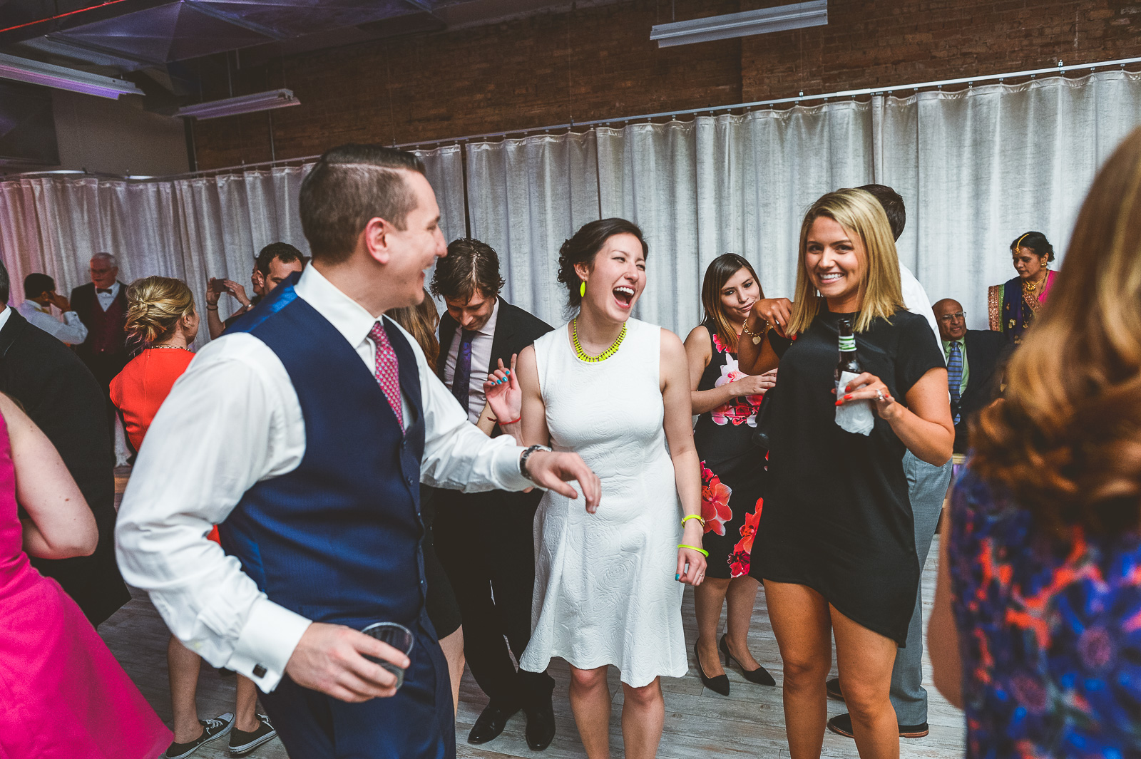 67 bride dnacing - Jackie + Raj // Chicago Wedding Photography at Floating World Gallery