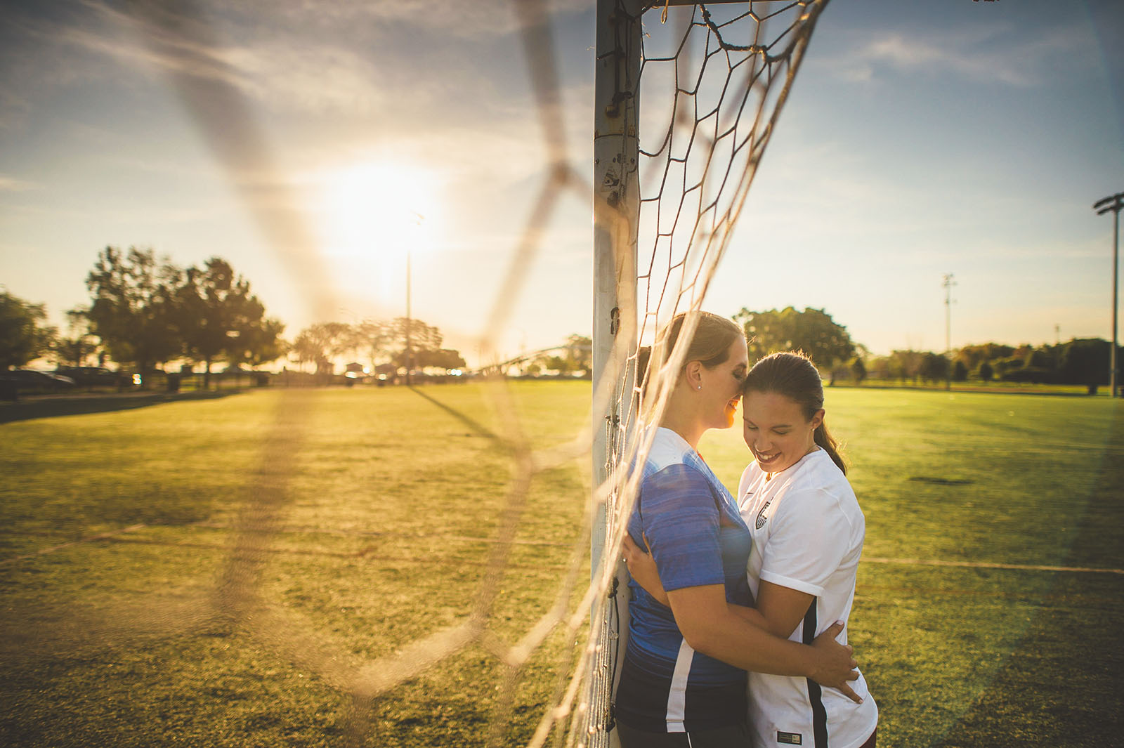 06 sun rising in lincoln park - Kim + Angie // Lincoln Park Engagement Session