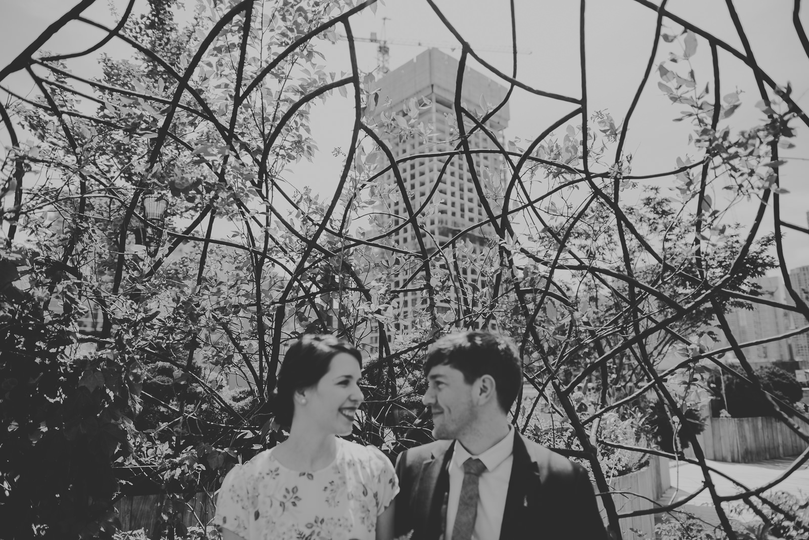12 black and white creative portraits for wedding
