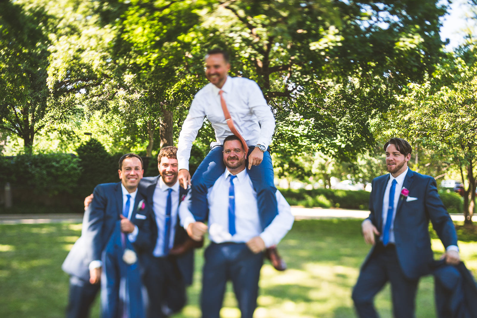 27 silly groomsmen - Natalie + Alan // Chicago Wedding Photographer at Cafe Brauer