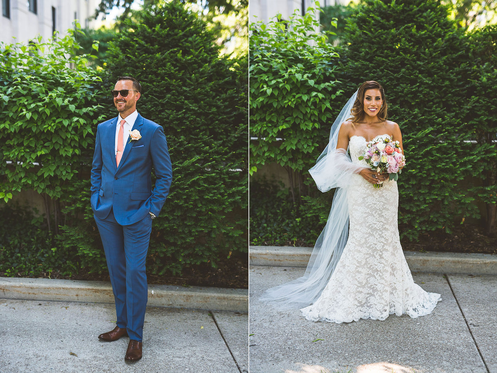 28 groom - Natalie + Alan // Chicago Wedding Photographer at Cafe Brauer
