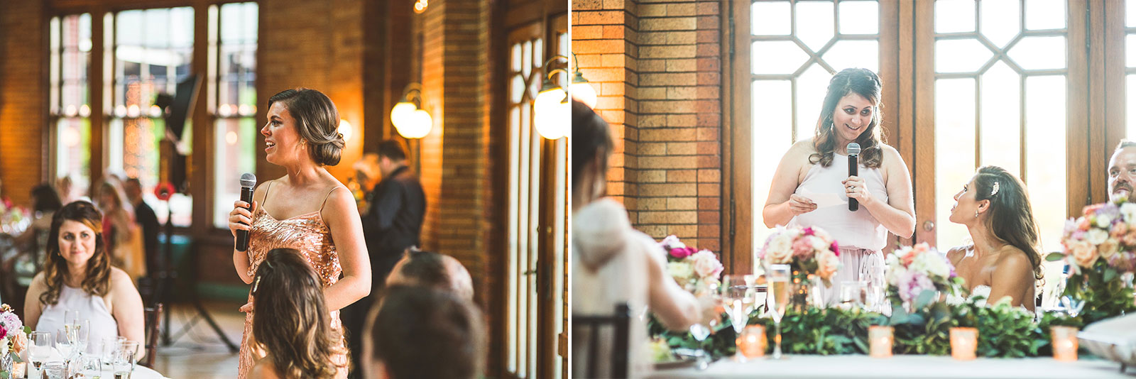 60 maid of honor speech - Natalie + Alan // Chicago Wedding Photographer at Cafe Brauer