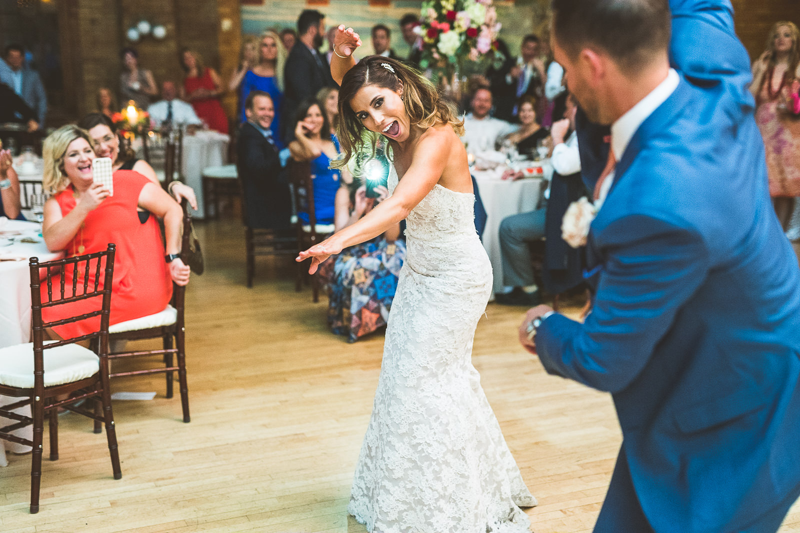 64 first dance - Natalie + Alan // Chicago Wedding Photographer at Cafe Brauer