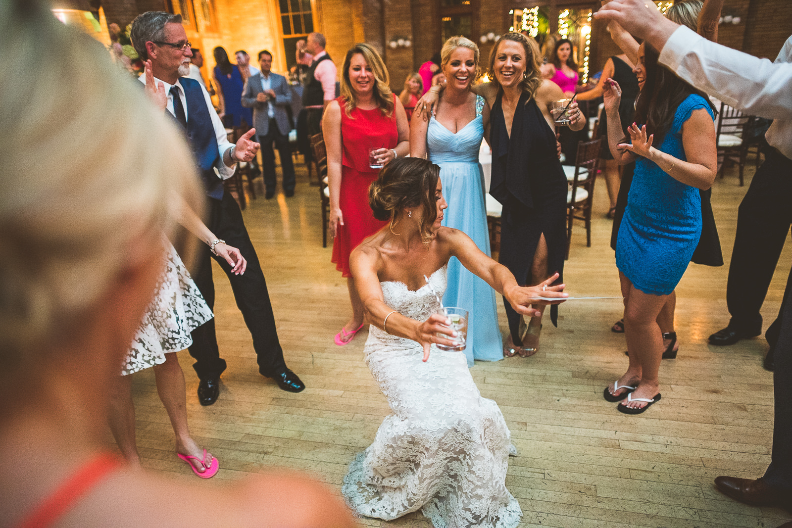 76 dancing - Natalie + Alan // Chicago Wedding Photographer at Cafe Brauer