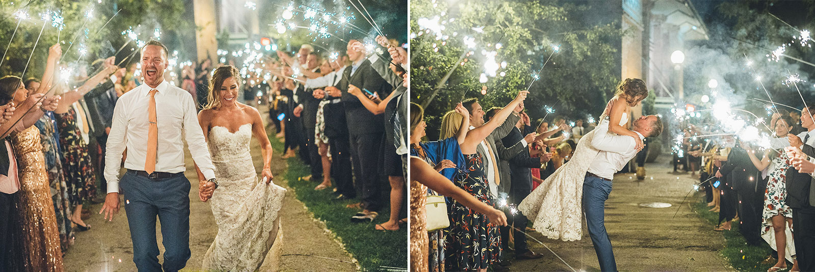 81 sparklers - Natalie + Alan // Chicago Wedding Photographer at Cafe Brauer