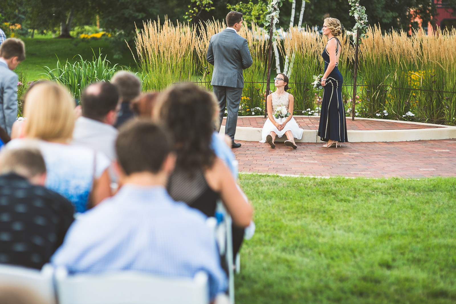 19 daughter sitting - Karen + Scott // Fishermens Inn Wedding Photographer Elburn Illinois