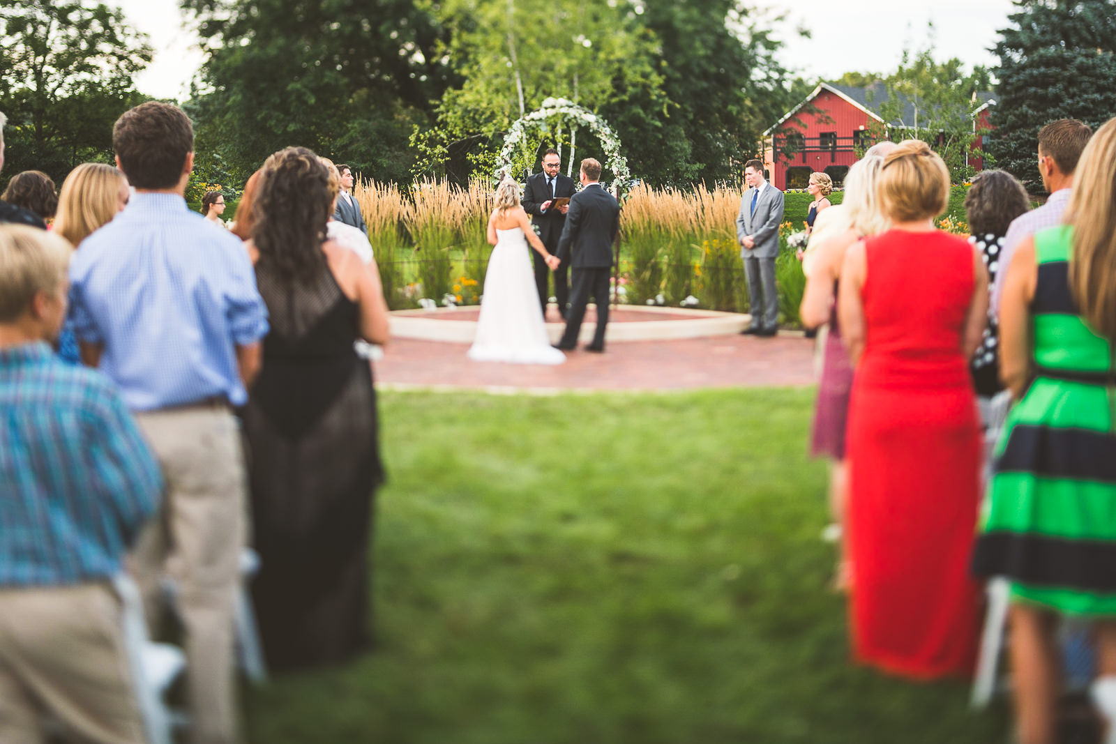 24 tilt shift at wedding photography - Karen + Scott // Fishermens Inn Wedding Photographer Elburn Illinois