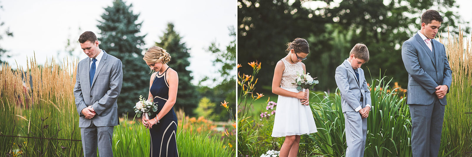 25 kids praying at wedding - Karen + Scott // Fishermens Inn Wedding Photographer Elburn Illinois