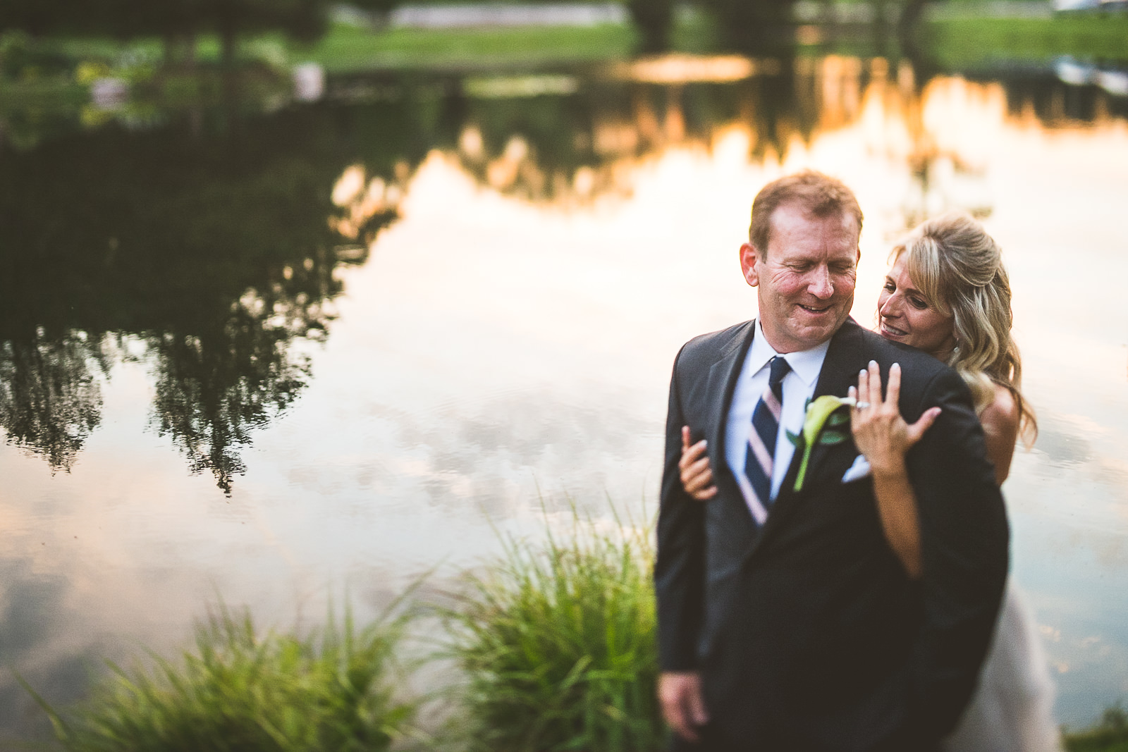 52 happy bride and groom at wedding - Karen + Scott // Fishermens Inn Wedding Photographer Elburn Illinois
