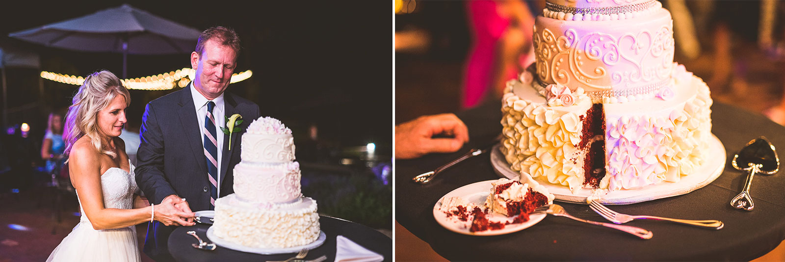 58 cake cutting - Karen + Scott // Fishermens Inn Wedding Photographer Elburn Illinois
