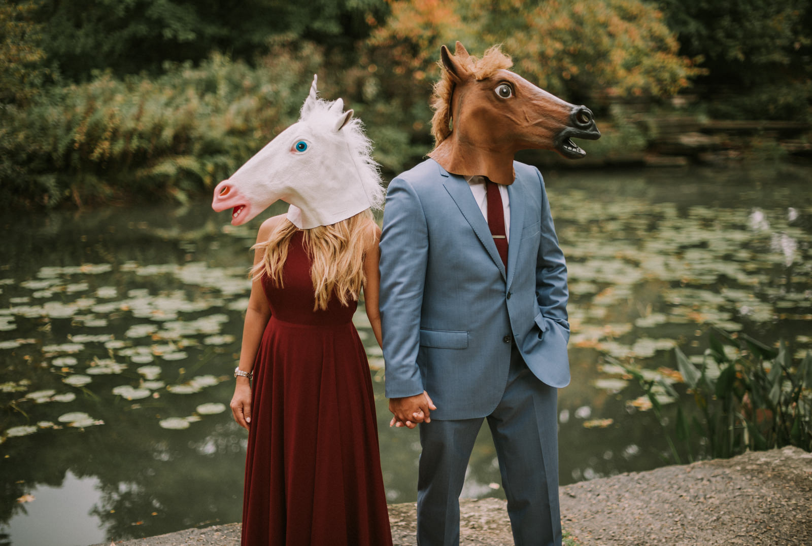 horse-head-engagement-session