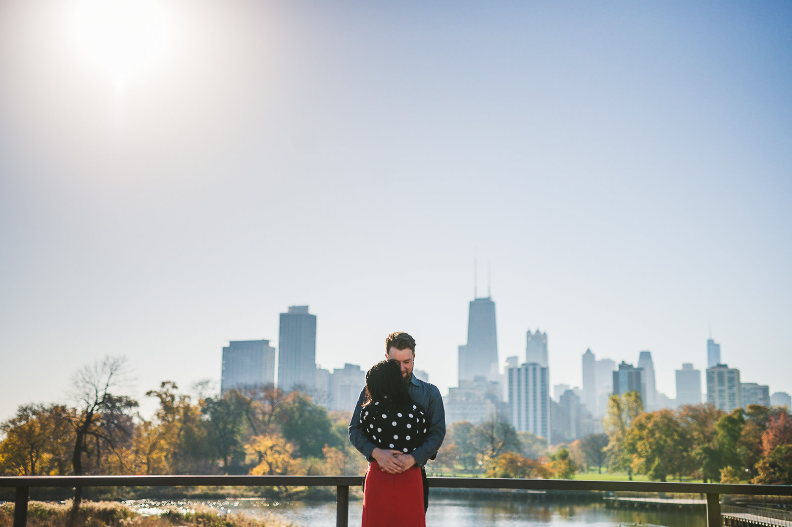 Fall Chicago Engagement Session // Irene + Stuart