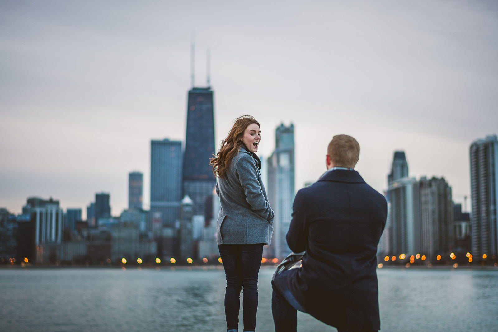 Chicago Surprise Proposal Photos // Taylor + Meghan