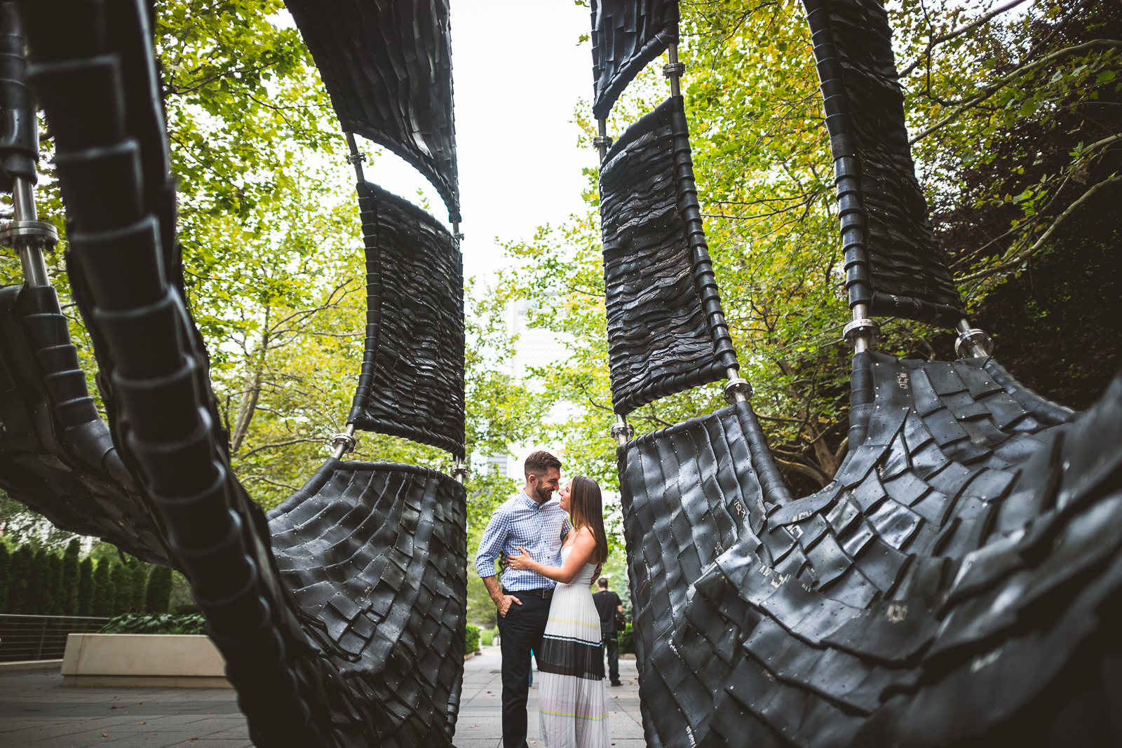06 grant park engagement session - River North Chicago Engagement Session // Laura + Justin