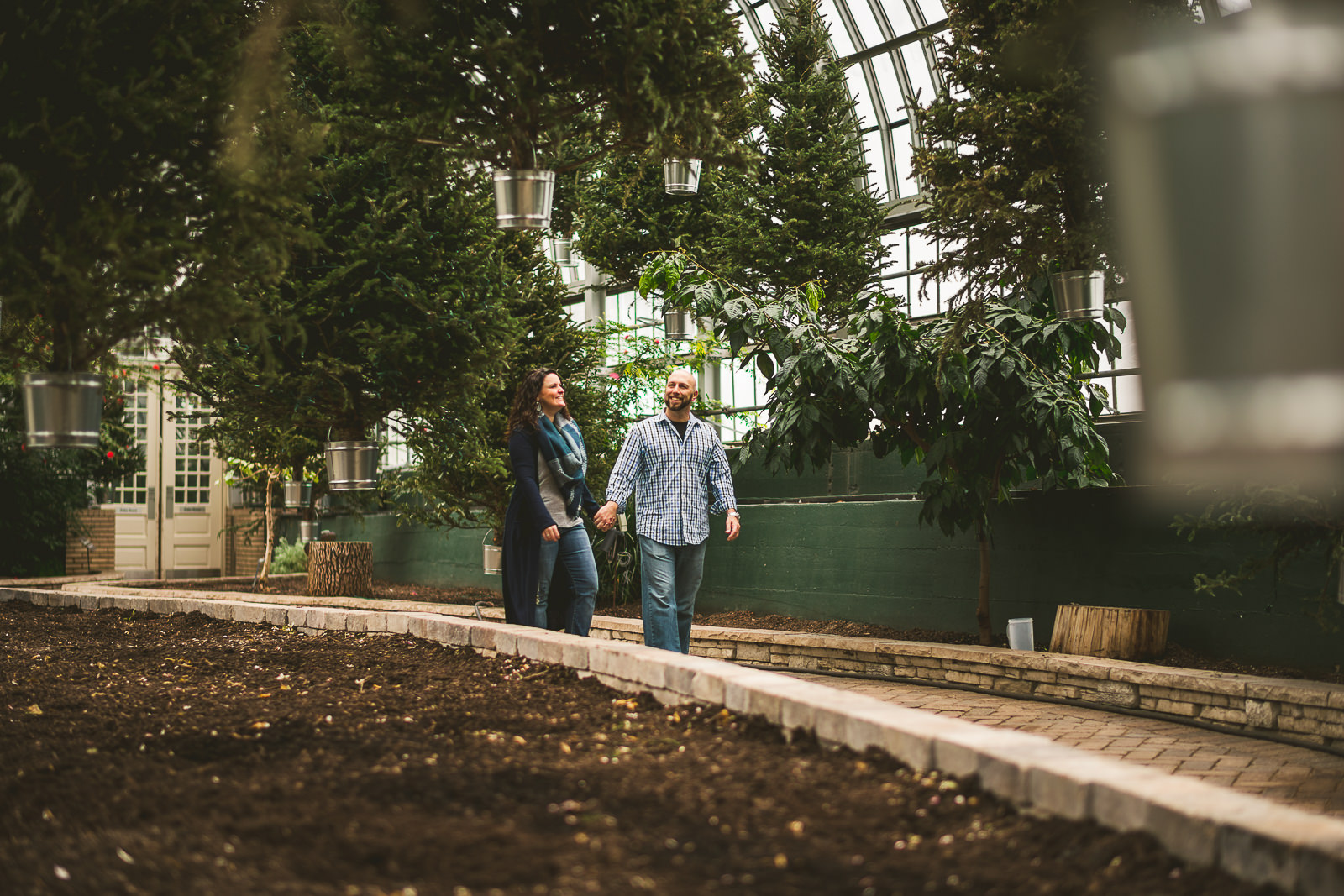09 garfield park conservatory engagement photography